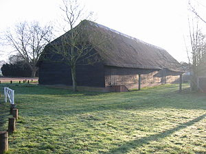 Upminster Tithe Barn Museum of Nostalgia - Image: Upminster tithe barn north