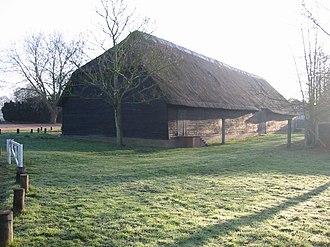 Upminster Tithe Barn Museum of Nostalgia - Image: Upminster tithe barn north