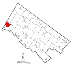 Location of Upper Pottsgrove Township in Montgomery County