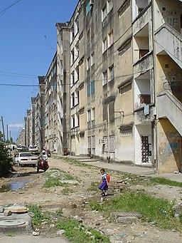 Urban blight at the Michenzani housing project, Zanzibar town, Tanzania