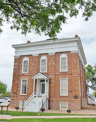 Deseret News - The Utah Territorial Statehouse, home of the News during the Utah War