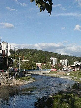 Đetinja - The river Đetinja as it runs through the city of Užice
