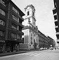Váci utca - Nyáry Pál utca kereszteződés, belvárosi Szent Mihály templom (Angolkisasszonyok temploma). Fortepan 20871.jpg