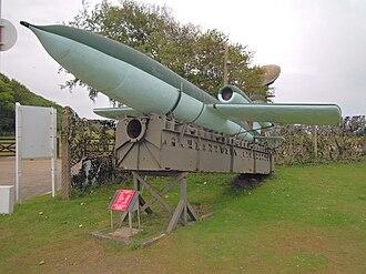 Muckleburgh Collection - Image: V1 Flying Bomb, Muckleburgh Collection, Norfolk, 06 06 2010