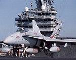 VFA131 Hornet aboard aircraft carrier front view.jpg