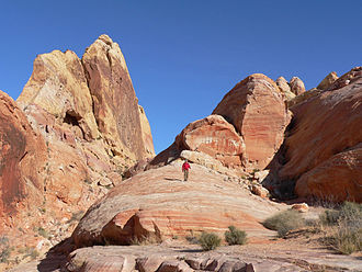 Star Trek Generations - High cliffs and areas like this in Valley of Fire State Park served as the alien planet Veridian III