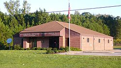 The U.S. Post Office in Vance, Alabama