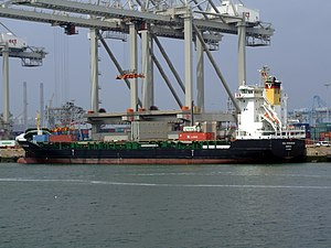 Vega Stockholm loading and unloading in the Amazone harbour Port of Rotterdam 18-May-2007.jpg