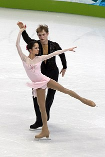 Vera Bazarova and Yuri Larionov at the 2010 Olympics (1).jpg