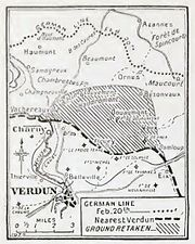 Verdun, French recaptures by February 1917