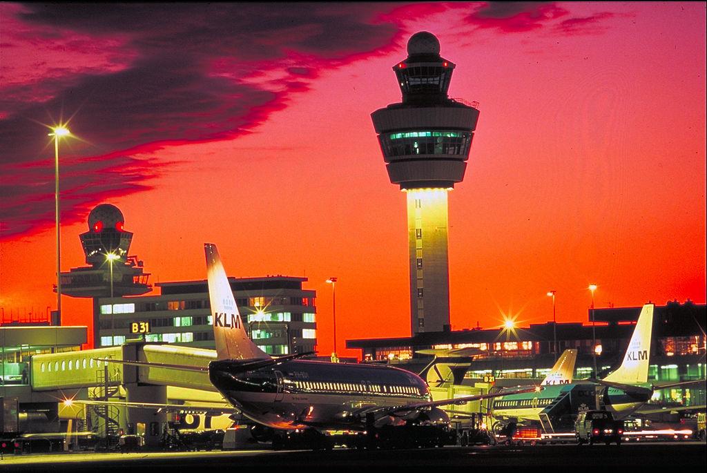 Aéroport de Schipol à Amsterdam