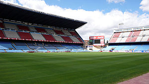 Vicente Calderón Stadium - Northwest internal view of the stadium.