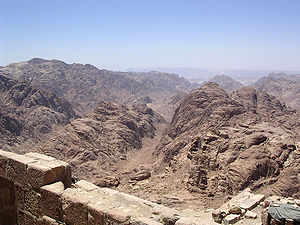 View from Mount Sinai, Egypt.
