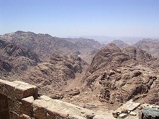 Aussicht vom Gipfel des Berges Sinai