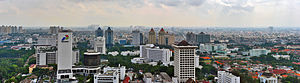 East Jakarta - Image: View of Gambir from Monas, December 2011