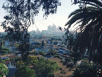 Lincoln Heights, Los Angeles - View of Lincoln Heights and Downtown Los Angeles from the hills