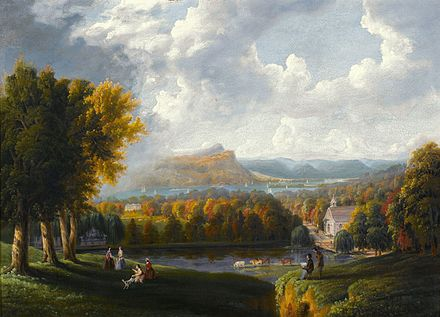 Robert Havell, Jr., View of the Hudson River from Tarrytown, c. 1866 View of the Hudson River-Robert Havell Jr-1866.jpg