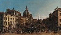 View of the Piazza Navona, Rome (by Giovanni Antonio Canal - Canaletto).jpg