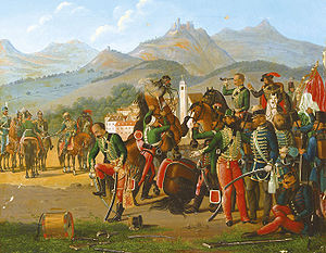 Surrender at Világos - Surrender at Világos (Hungarian painter, mid-19th century)