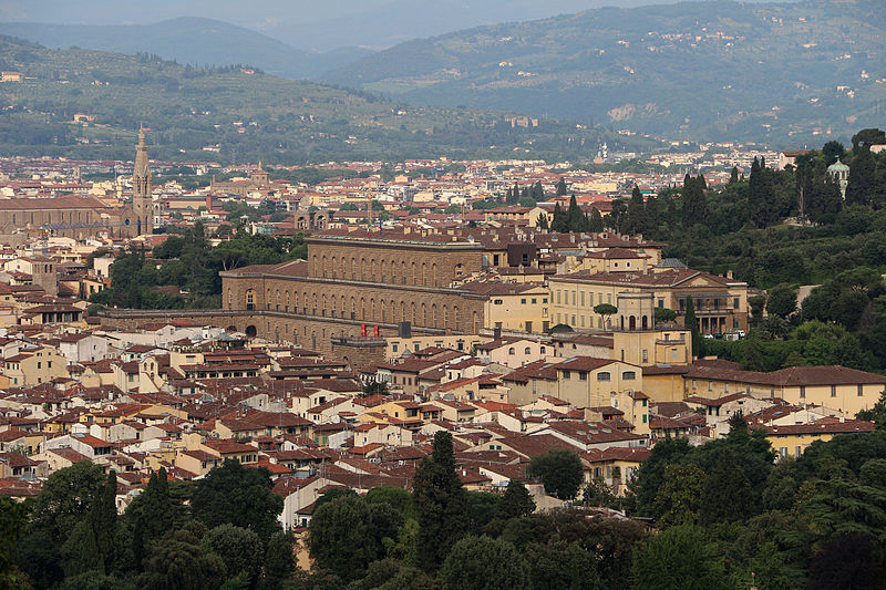 File villa di bellosguardo giardini e parco vista su firenze palazzo pitti 1 jpg wikimedia - I giardini di palazzo rucellai a firenze ...