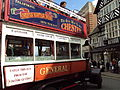 Vintage tour bus, Chester.JPG