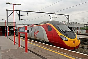 "Virgin Class 390, 390126 ""Virgin Enterprise"", Stockport railway station (geograph 4004981).jpg"