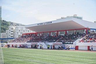 Victoria Stadium (Gibraltar) - Victoria Stadium during the 2014 Rock Cup Final