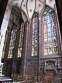 Vitraux et dormition de la Vierge de la chapelle sainte-Catherine de la Cathédrale de Strasbourg.jpg