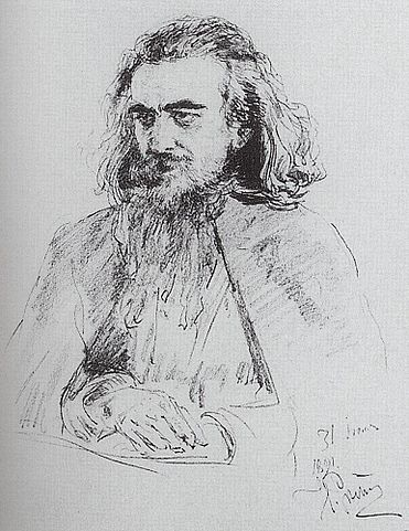 В.С.Соловьёв. Портрет работы И.Е.Репина 1891 года