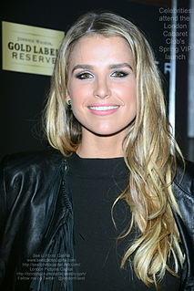 Vogue Williams Irish model and media personality