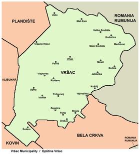 vrsac mapa srbije Vršac   Wikipedia vrsac mapa srbije