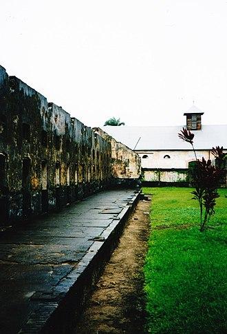 Saint-Laurent-du-Maroni - View inside the prison of Saint-Laurent.