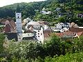Wörth an der Donau Blick vom Schloss ins Zentrum.JPG
