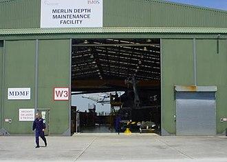 RNAS Culdrose (HMS Seahawk) - Hangar W3, home to the Merlin Depth Maintenance Flight.