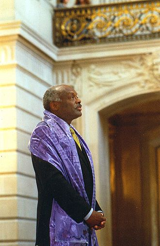 Willie Brown (politician) - Mayor Willie Brown at an event in the San Francisco City Hall rotunda in the 1990s.