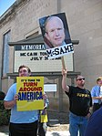 WI Union activists protest outside McCain Town Hall in Racine, July 31, 2008 (2722179929).jpg