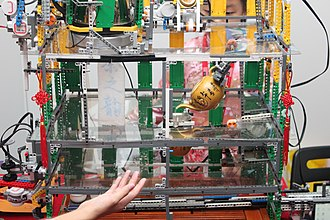 World Robot Olympiad - A robot built for the Open Category.