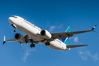 Boeing 737 MAX - A WestJet Boeing 737 MAX 8 on final approach