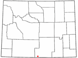 Location of Baggs, Wyoming