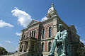 Wabash County Courthouse with Lincoln Monument by Charles Keck in the foreground Taken on May 15, 2002.jpg