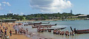 Waitangi Day - Traditional Maori Waitangi Day celebrations at Waitangi, Bay of Islands