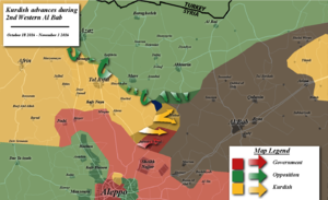Western al-Bab offensive (October–November 2016) - Map of the offensive