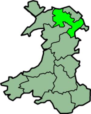 Denbighshire (historic) - Image: Wales Denbighshire Trad
