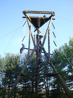 English: Warren Wilson College's Ropes Course ...