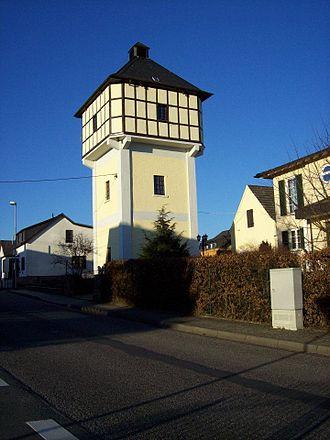 Großmaischeid - The landmark Wasserturm (Watertower) in Großmaischeid built in 1923