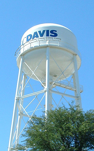 Yolo County, California - Water tower at University of California, Davis