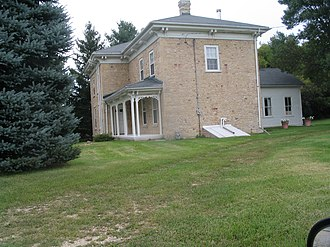 National Register of Historic Places listings in Racine County, Wisconsin - Image: Waterford farmhouse NW Highway