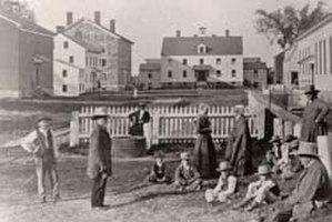 Era of Manifestations - Watervliet Shaker village, Albany, New York, circa 1870, Courtesy of Shaker Heritage Society