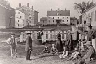 Era of Manifestations - Watervliet Shaker village, Albany, New York, circa 1870, Courtesy of Shaker Heritage Society