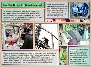 Watts Towers - An explanation of how the Watts Towers are maintained